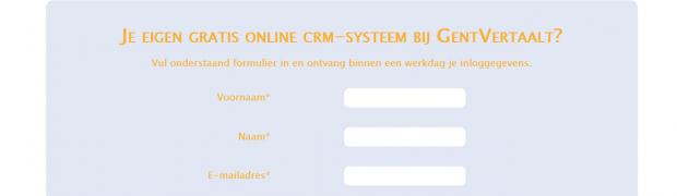 Gratis crm-systeem via GentVertaalt